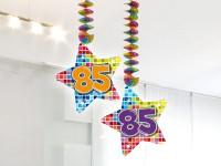 2 Groovy 85th Birthday Spiralhänger 75cm