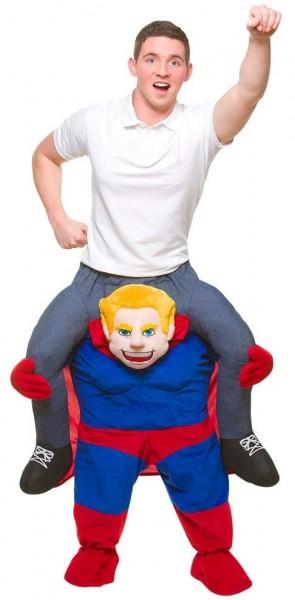 Huckepack Auf Superheld Kostüm