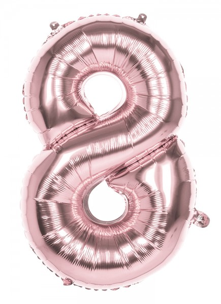 Number 8 Foil Balloon Rose Gold 86cm