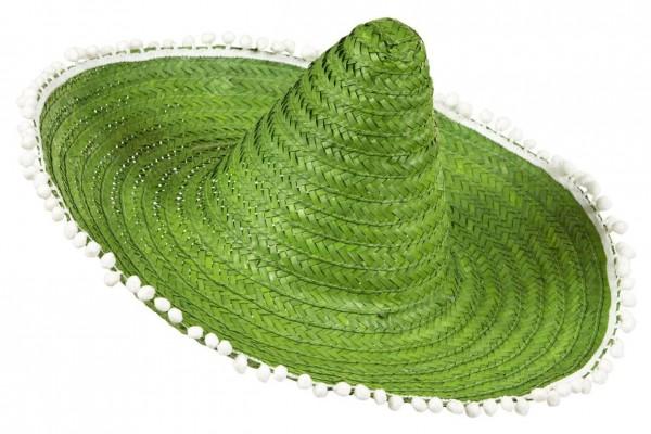 Grüner Bommel Sombrero 50cm