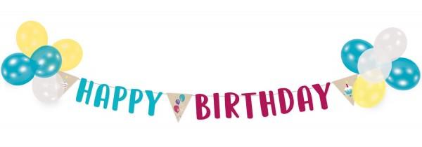 Birthday Wishes Deko Set 20-teilig