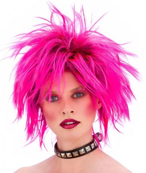 Wilde 80er-Jahre Perücke Pink