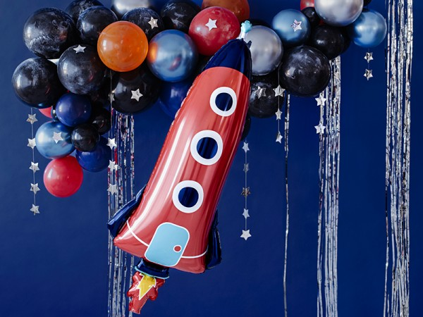 Space party foil balloon 44cm x 1.15m
