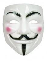 Weiße V Maske