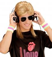 Blonde Vokuhila Perücke Mit Brille