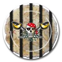 8 Sebastian Säbel Piraten Pappteller 23cm