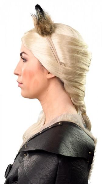 Horns headband with fur