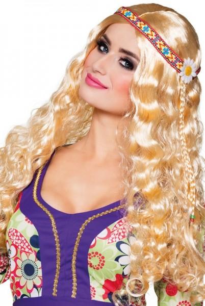 Perruque de mariée hippie blonde