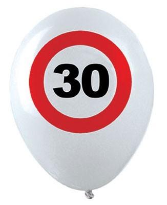 12 ballons en latex anniversaire 30 zones