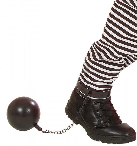Gefängnis Insassen Fußfessel Kette Mit Kugel
