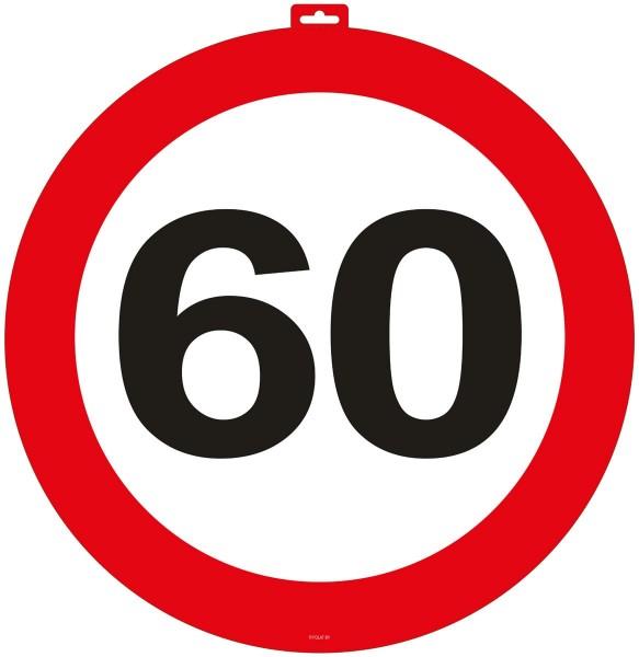 60ste verjaardag deur teken 49cm