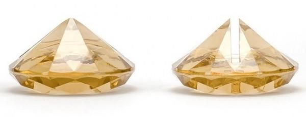 Tarjetero 10 diamantes oro 4cm