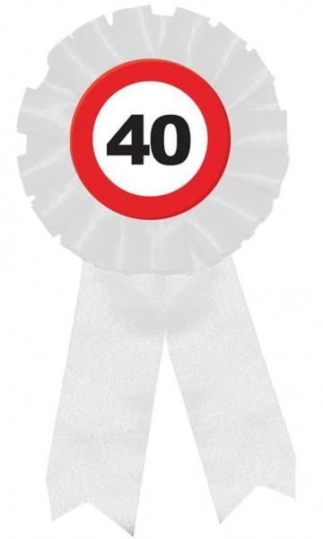 Zone 40 Anstecknadel