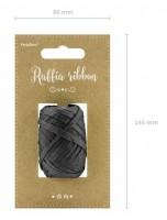 10m Raffia Geschenkband schwarz
