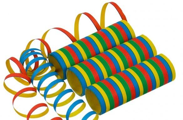 10 serpentinas multicolores Fiesta