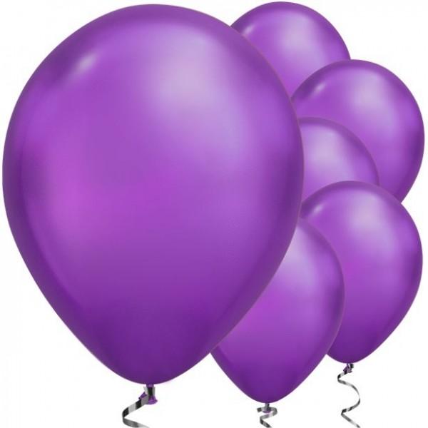 25 Lila metallic Luftballons Passion 28cm