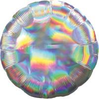 Holografischer Folienballon silber 45cm