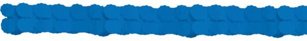Guirnalda de papel azul royal 3,65m