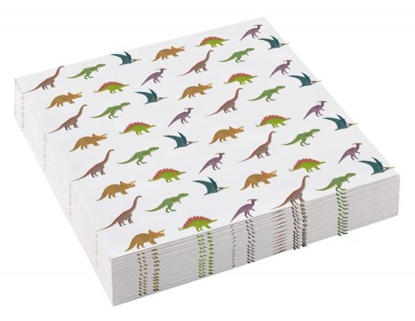 20 Happy Dinosaur Napkins 25cm x 25cm