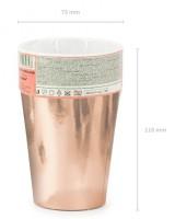 Vorschau: 6 Roségold metallic Pappbecher 220ml