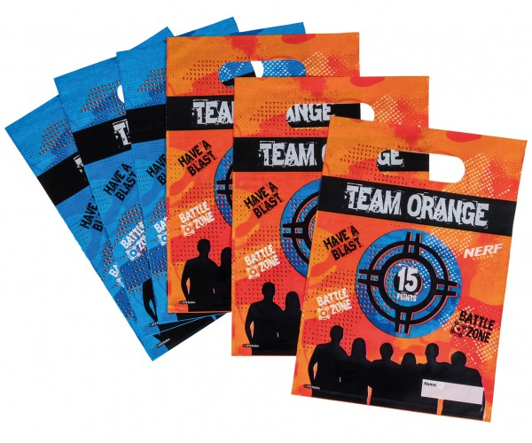 6 Nerf Battle Zone gift bags 17 x 23cm