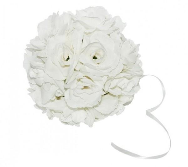 3 Pompons Blumenstrauß 17cm 1