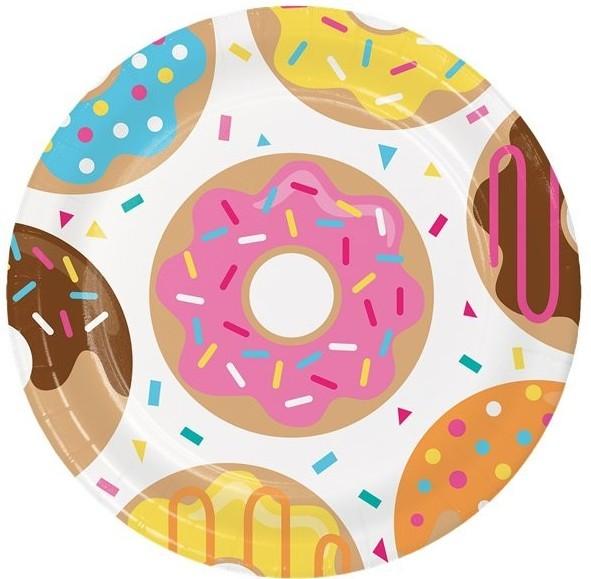 8 piatti ciambella donut 23cm