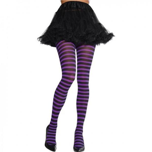 Medias para mujer violeta-negro