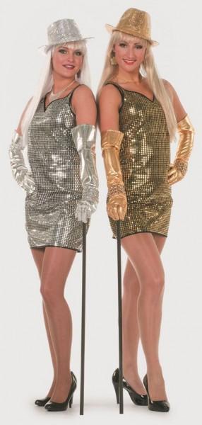 Silbernes Party Paillettenkleid