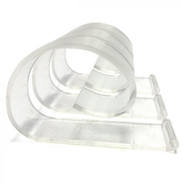 24 Transparente Kunststoff Tischklammern