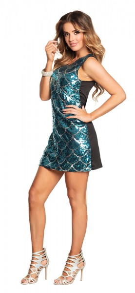 Glamour Disco Schuppen Kostüm