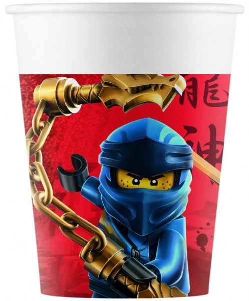 8 Lego Ninjago Pappbecher 200ml