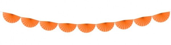 Guirlande Rosette Daphné orange 3m x 30cm