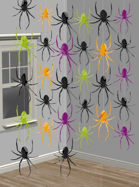Creepy spiders hanging decoration