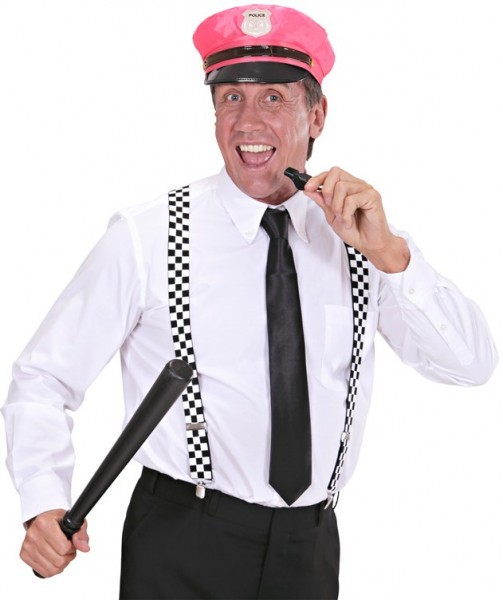 Neon Pinke Damen Polizeimütze