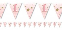 Twinkle First Baby Girl Wimpelkette 3,7m