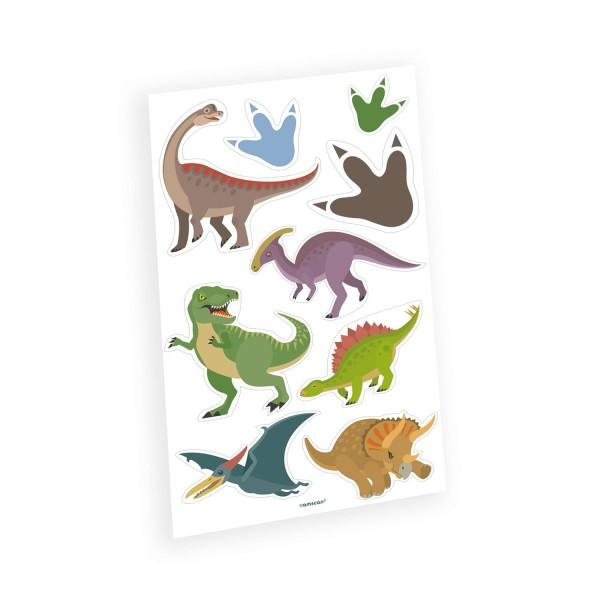 Set de tatuaje adhesivo de dinosaurio feliz