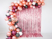 Roségold metallic Vorhang 90cm x 2,5m