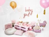 Vista previa: Globo foil Baby en rosa dorado 73,5 x 73,5 cm