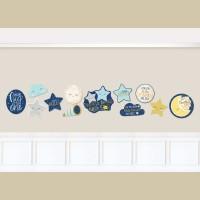 12 Twinkle Little Star Wandbilder