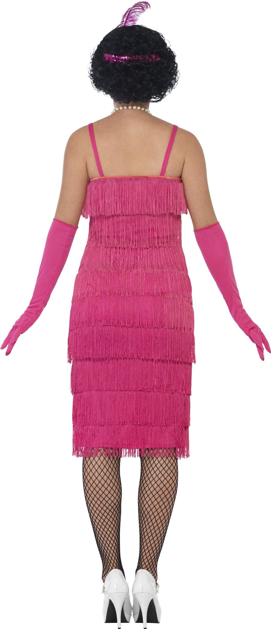 pink charleston fringed dress rosalinda