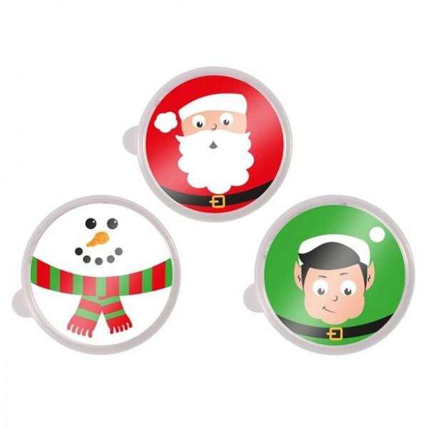 1 tin with plasticine Christmas motif
