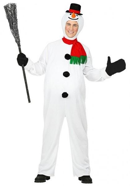 Happy adult snowman costume