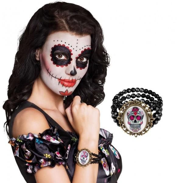 Bracelet tête de mort Halloween