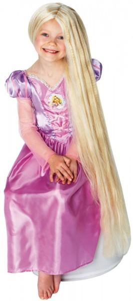 Glänzende Rapunzelperücke Für Kinder