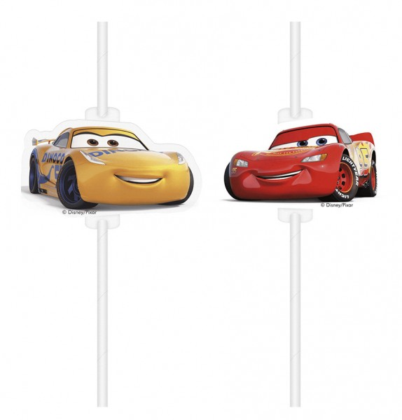 4 Cars 3 Medaillion Straws