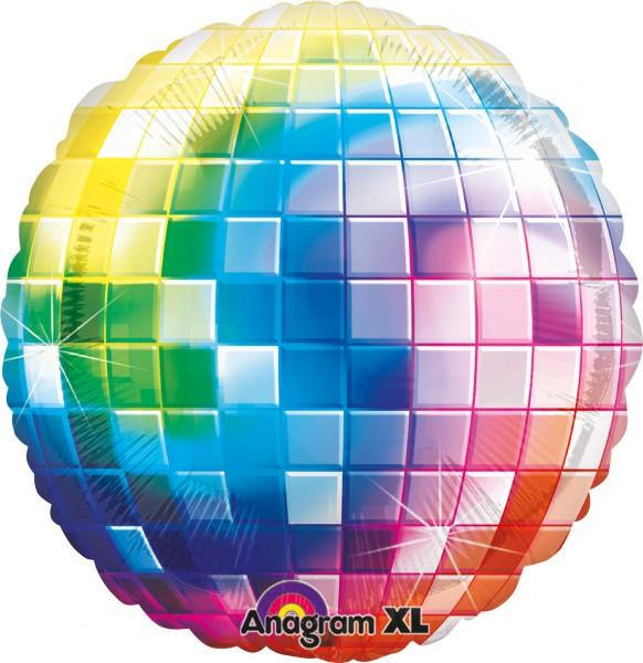 Folienballon Kunterbunte Diskokugel 81cm