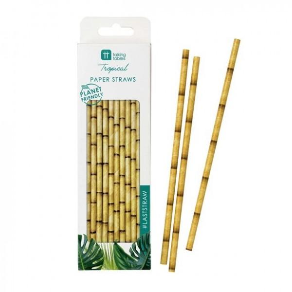 30 pailles en papier bambou