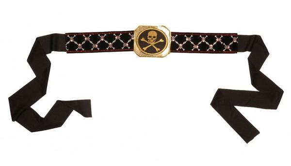 Black and gold pirate belt