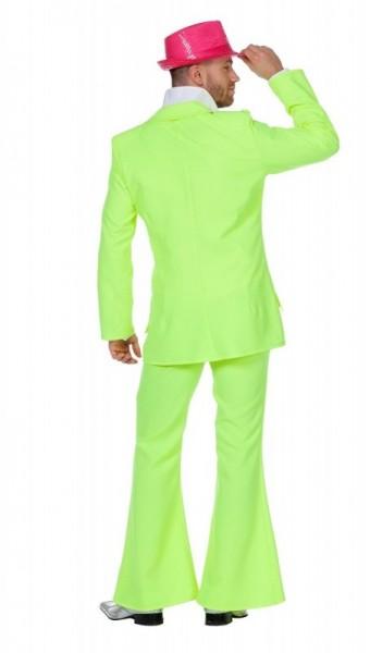 70er Jahre Neon Disco Partyanzu grün